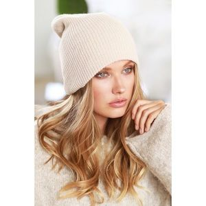 Slouchy Knit Beanie-OATMEAL